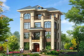 占地119㎡四层自建别墅,四层农村自建房设计图