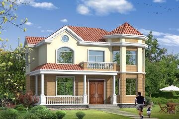 造价25万复式二层简单精致的小别墅设计图,12m*10.6m经济实用的自建房
