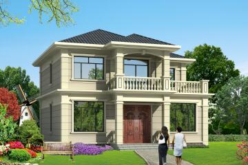二层精致小别墅,11.94m*11.60m,美观时尚,适合一家人居住