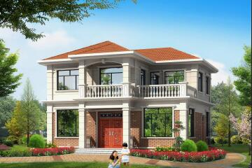 经济实用的二层自建小别墅,12.14m*11.90m,精致美观