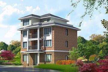 11.2x11.3m新石材四层农村设计图_4层房屋护栏设计图图片