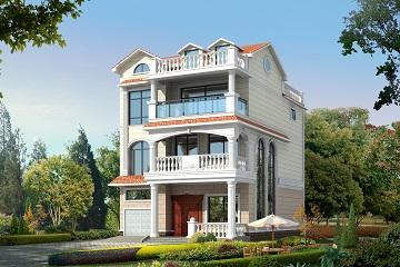 三层半实用小型自建房别墅设计图9x11米_农村室内设计给排水教程图片