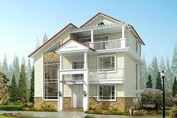 11x11米精致别墅3层房屋设计图_温馨大方的农村小别墅