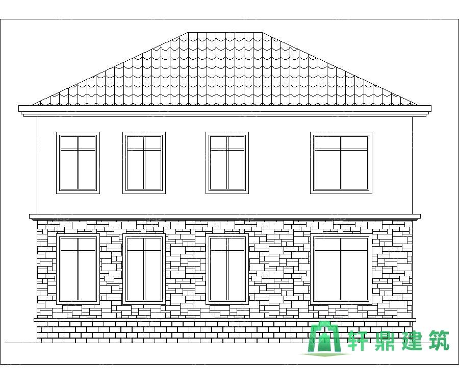 经典二层别墅设计图,布局完善,经济适用,轩鼎出品,含全套完善施工图