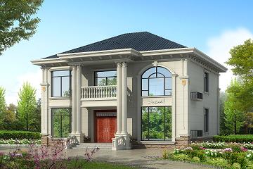 精致二层自建小别墅设计图,占地167㎡,13.44m*11.24m农村自建房屋