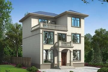 美观精致的三层自建小别墅设计图,简单又不失华丽,农村建房的不二选择