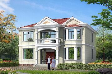 经济实用的二层小别墅设计图,布局完善,可两户同时居住