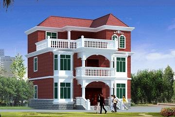 11x9米二层半靓丽清新农村自建房图纸_农村别墅设计图大全
