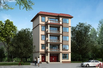 11*11m五层新中式自建别墅设计图,占地120平方米美观精致