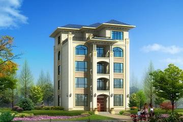 面宽13米,进深15米四层半别墅设计图,经济pygame圆绘制图片