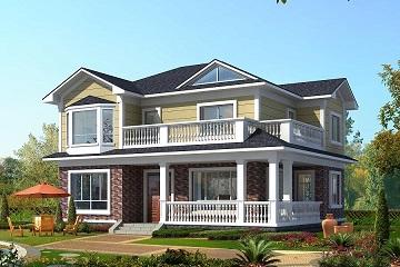 12x9米二层复式小别墅