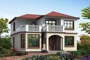 13x12米二层非常适合农村自建的小型别墅设计图
