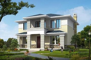 12x14米农村楼房设计图_2017农村新款小别墅设计图