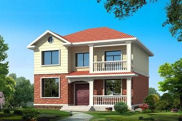 新款农村房屋设计图_11x10米二层农村带阳台农村小别墅
