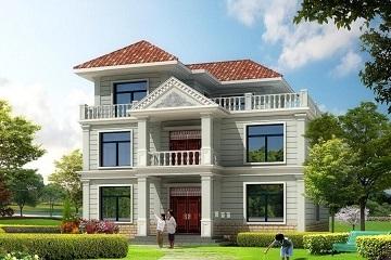 11x9米两层半农村房屋设计图,含效果图
