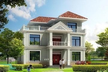 二层半自建房屋设计图,占地120平方米左右,带有大面积露台