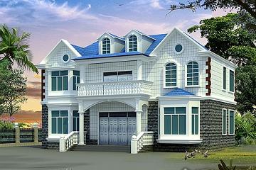 14x12m漂亮精致的二层农村小别墅_布局实用的二层自建房设计图