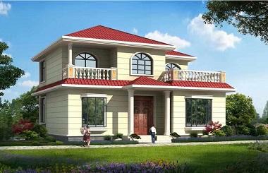 12x10米漂亮的二层楼房设计图_2017年新款新户型自建房
