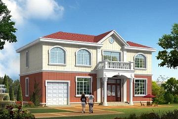 15x9米新款带车库二层房子设计图_楼房设计图