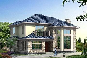 12x14米新款精品别墅设计图_二层复式别墅设计图纸