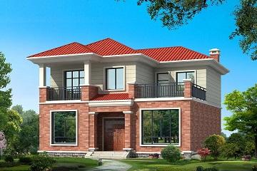 11x10带露台阳台二层实用15万左右农村别墅设计图