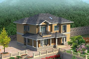 田园风格复式小别墅设计图,简单温馨的农家小院