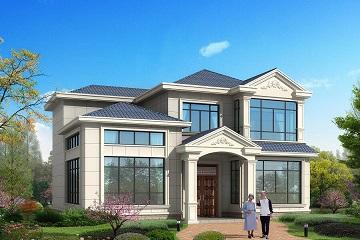 小户型二层自建别墅设计图,简单大方,采光良好