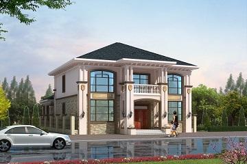 欧式二层带院子小别墅设计图,既美观又实用,自建房屋首选