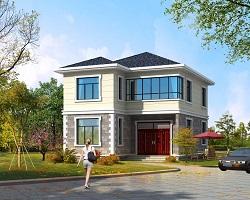 占地100㎡左右小户型二层自建别墅设计图,经济实用,造价20万左右,新年爆款