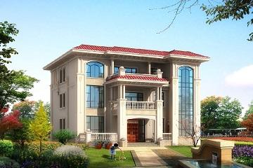 精品欧式三层自建别墅设计图,美观精致,采光良好