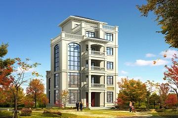 六层自建别墅设计图,美观精致,可做民宿