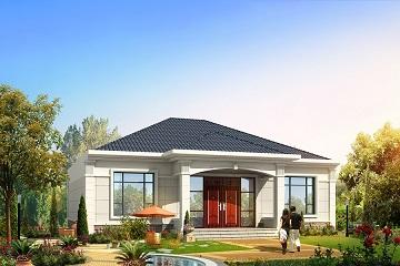 精致的一层自建房屋设计图,布局合理,造价20万左右