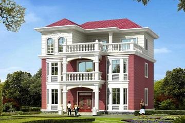 11x12米二层半新款别墅设计图_别墅设计图纸及效果图大全