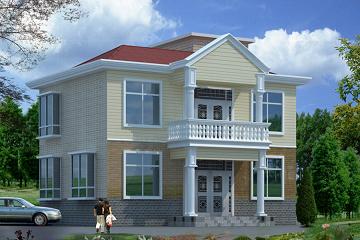 11.00x10.28m二层经典农村房屋设计图_造价15万左右自建房图纸_适合农村建房图纸
