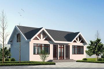 13x8米一层带阁楼农村房子设计图_一层农村小别墅