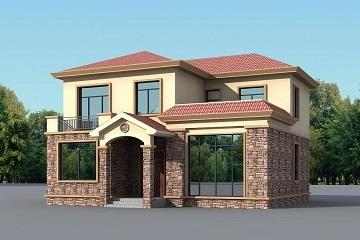 中式田园风格自建二层小别墅设计图,含全套完善施工图纸