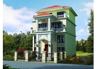 8x12米三层带夹层农村小别墅施工图_自建房优化户型设计图