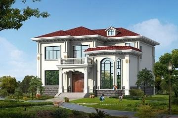13*14米二层精品复式小别墅设计图,造价30左右,采光通风良好