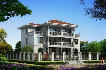经典三层双拼楼房设计图,经典外观,经典户型,农村别墅图纸大全