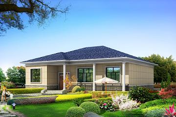 14*12米占地160平方米的一层自建房屋设计图,经济实用