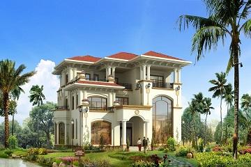 欧式高端三层复式别墅设计图,含全套完善施工图纸
