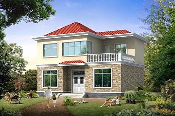 农村二层自建房屋设计图,小平方户型完美,造价18万左右