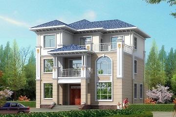 12x15米简单大气三层别墅设计图,外观简洁明亮