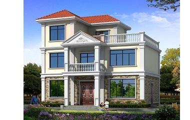现代简约三层自建房屋设计图,小户型经济实用,造价合理