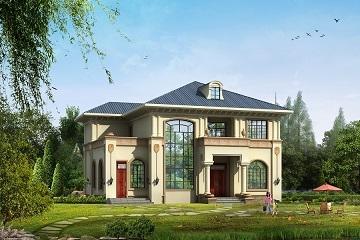 精品二层复式小别墅设计图,14*12m,造价30万左右