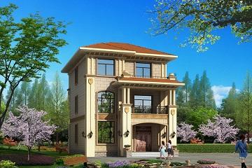 9x13米农村三层别墅设计图,带露台,外观简洁漂亮