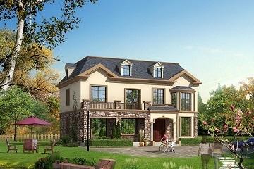 两层带阁楼田园小别墅设计图,布局完善,美观实用