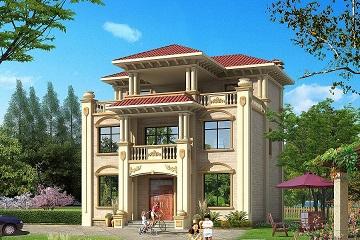 11x11米三层欧式豪华别墅设计图,全套施工图纸+效果图