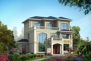 三层农村自建房别墅设计图纸,大厅中空,外观高端大气