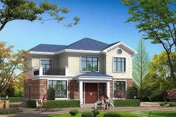 12.24m*9.59m经济实用的小户型二层自建房屋设计图